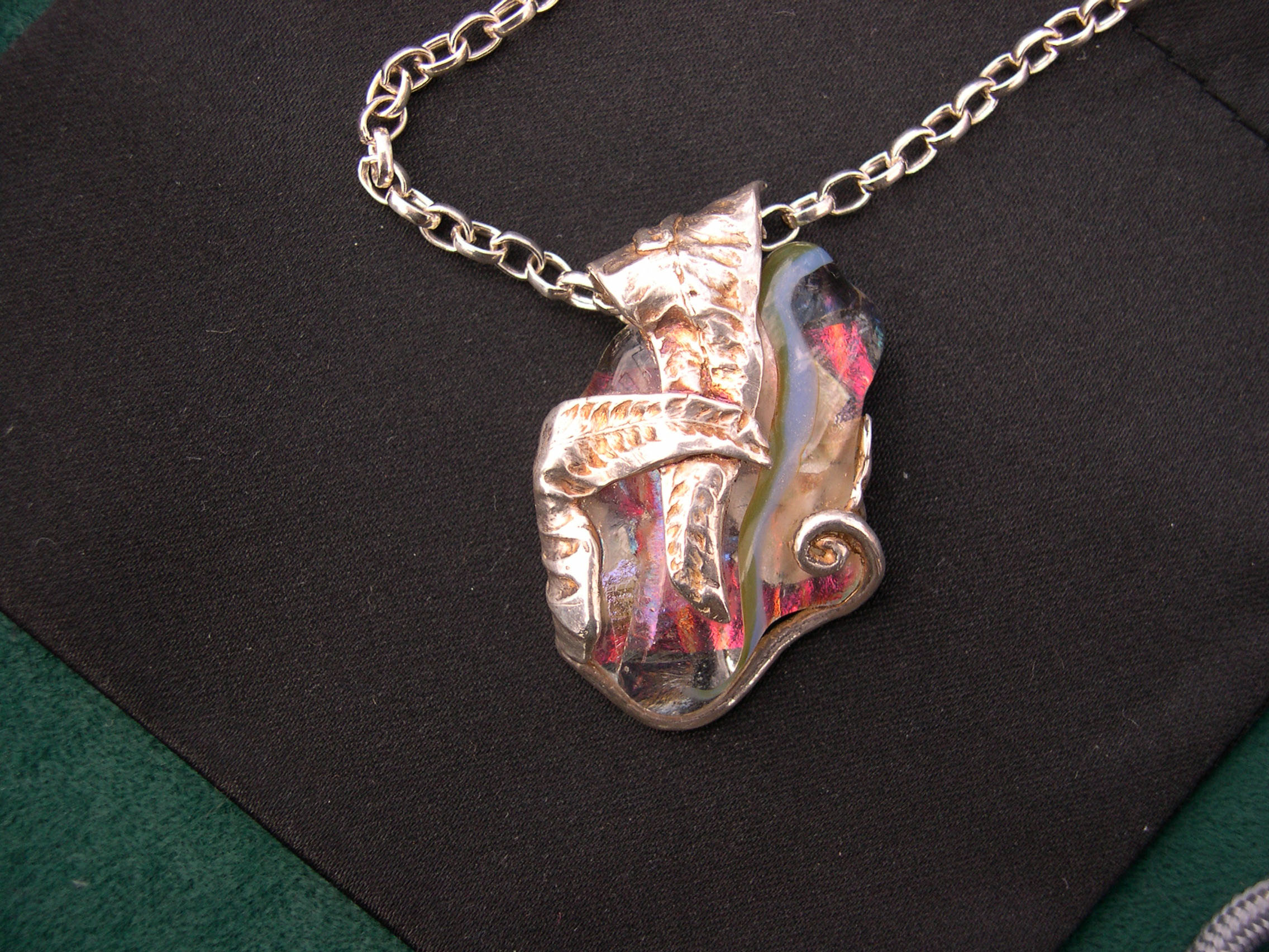 portfolio glass samples art dichroic melissa jewelry layered pendant mccann necklace